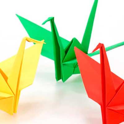 Гравюра, оригами, чеканка