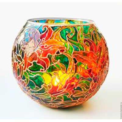 Роспись стекла и керамики, витраж