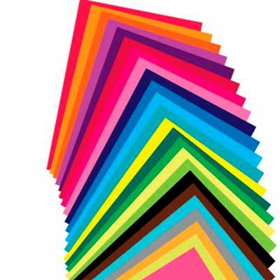 Бумага цветная