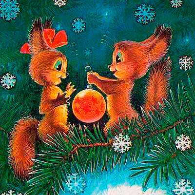 Плакаты и растяжки новогодние